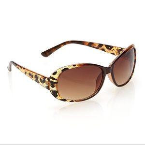 Steven Madden Animal Print Crystal Sunglasses